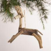 Driftwood Deer Ornaments, Set of 3