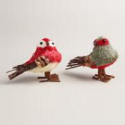 Natural Fiber Masked Birds, Set of 2
