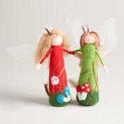 Felt Garden Angels, Set of 2
