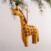 Felt  Giraffe Ornaments, Set of 3