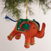 Fabric Elephant Ornaments, Set of 3