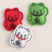 3 Piece Lucky Cat Toys with Catnip, Set of 2