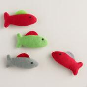 2 Piece Knit Fish Toys with Catnip, Set of 2