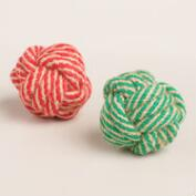 2 Piece Jute Ball Dog Toys, Set of 2