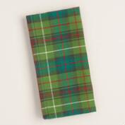 Green Plaid Napkins, Set of 4