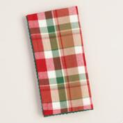 Red and Green Plaid Napkins, Set of 4