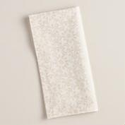Ivory and Gold Foil Sarika Napkins, 4-Pack