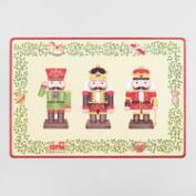 Nutcracker Wipe-Off Vinyl Placemats, Set of 4