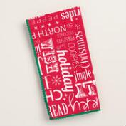 Red Vintage-Style Sentiments Napkins, Set of 4