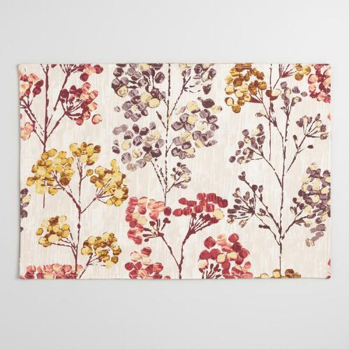 Silver Dollar Trees Placemats, Set of 4