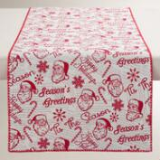 Santa and Holiday Greetings Table Runner