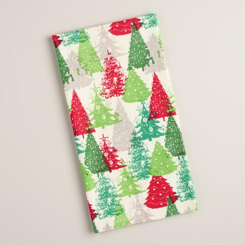 Festive Tree Flour Sack Kitchen Towel
