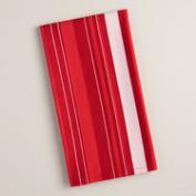 Red Stripe Woven Kitchen Towel