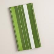 Green Stripe Woven Kitchen Towel