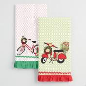 Bike and Scooter Kitchen Towels, Set of 2