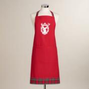 Red Stag Head Apron