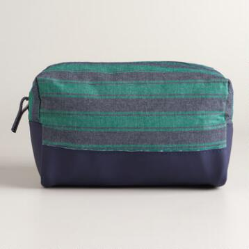 Men's Striped Dopp Kit