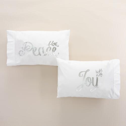 Peace and Joy Pillowcases, Set of 2