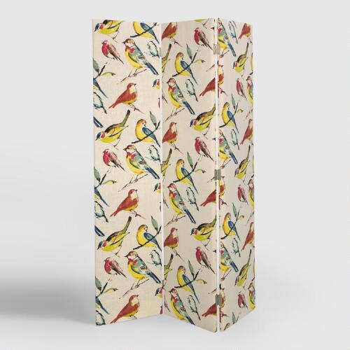 Bird Watcher Upholstered Screen