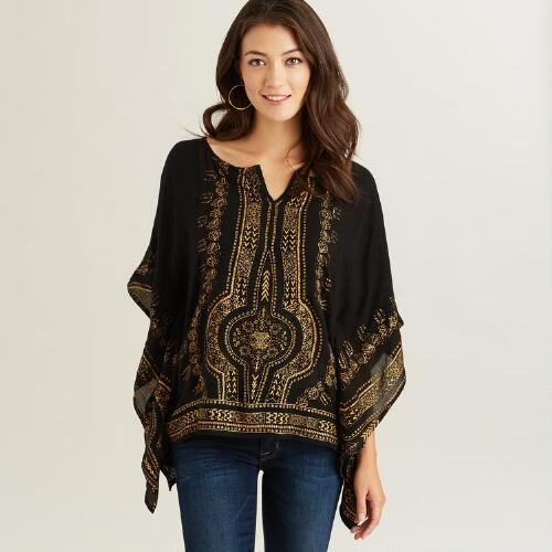 Black and Gold Ora Kaftan