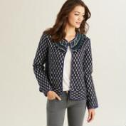 Blue Cotton Aimee Jacket