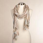 Taupe Stripe Scarf