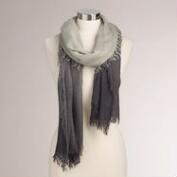 Gray Ombre Scarf with  Fringe