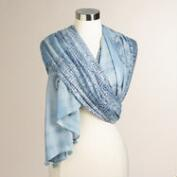 Blue Tie Dye Prayer Shawl