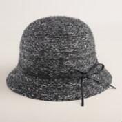 Charcoal Marled Knit Cloche