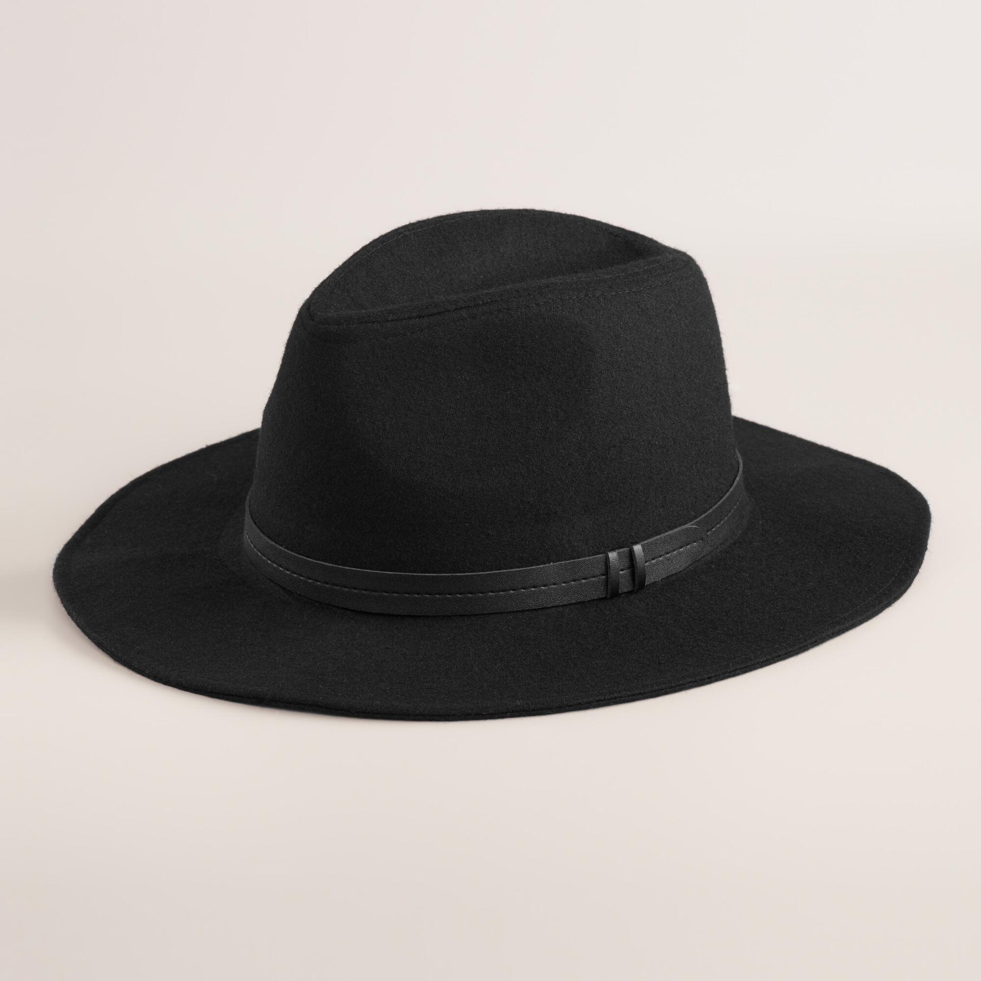 LADIES WIDE BRIM FELT FEDORA W/CONTRAST GROSGRAIN BAND F ladies wide brim felt fedora with contrast grossgrain band style: F material: % wool felt 12 pcs assorted color pack: black/black 5, black/red 2, charcoal/pink 3, burgundy/black 2 size: one (adjustable drawstring band) minimum order: 12 pc price per dozen.