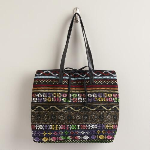 Large Multicolor Woven Bag