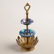 Gold Lotus 3-Tier Jewelry Stand