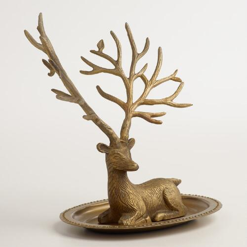 Gold Stag Jewelry Stand