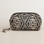 Large Black and White Tribal Cosmetic Bag