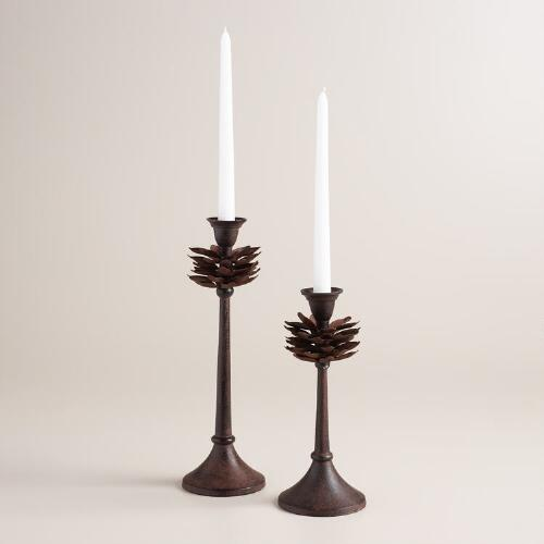 Pinecone Taper Candleholder