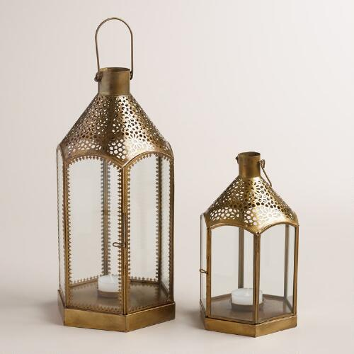 Clear Glass and Metal Lantern