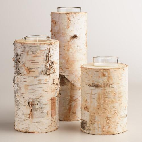 Birch Votive Candle Holder