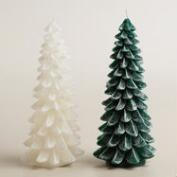 Frosted Christmas Tree Candle