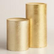 Rustic Gold LED Pillar Candle