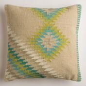 Beige Montesilvano Wool Throw Pillow