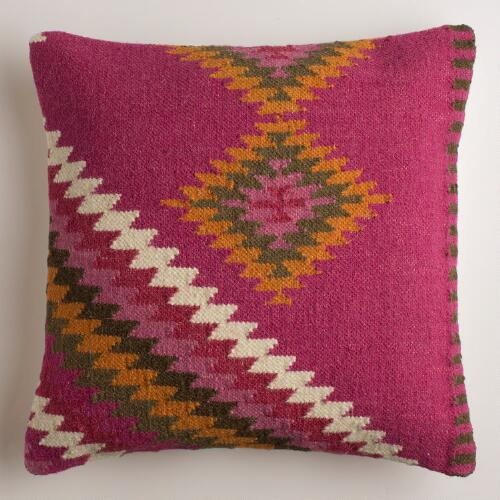 Magenta Montesilvano Wool Throw Pillow