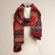Warm Multicolor Drop Stitch Scarf
