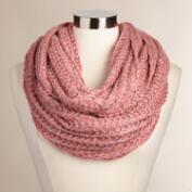 Chunky Blush Infinity Scarf with Sequins