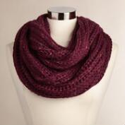 Dark Wine Multicolor Infinity Scarf