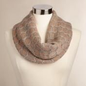Gray and Gold Metallic Snood