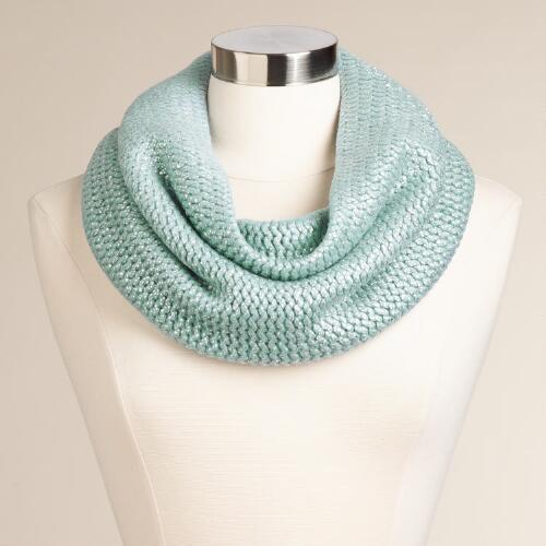 Mint and Silver Snood