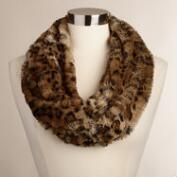 Leopard Faux Fur Snood