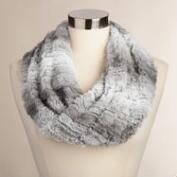 Light Gray Faux Fur Snood