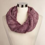Plum Faux Fur Snood