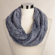 Blue Faux Fur Snood